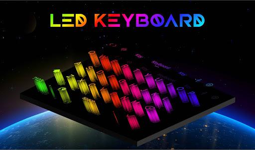 LED Lighting Keyboard - Emojis, Fonts, GIF screenshot 1