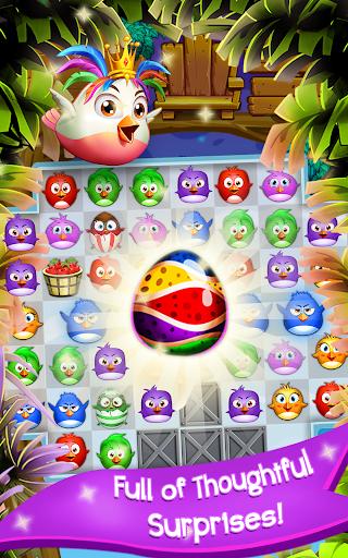 Birds Pop Mania: Match 3 Games Free 2 تصوير الشاشة