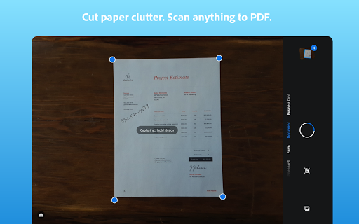 Adobe Scan: PDF Scanner with OCR, PDF Creator 9 تصوير الشاشة