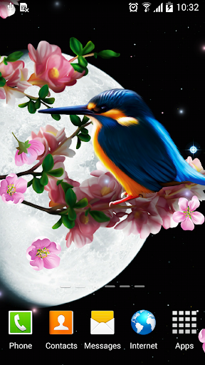 Sakura and Bird Live Wallpaper screenshot 1
