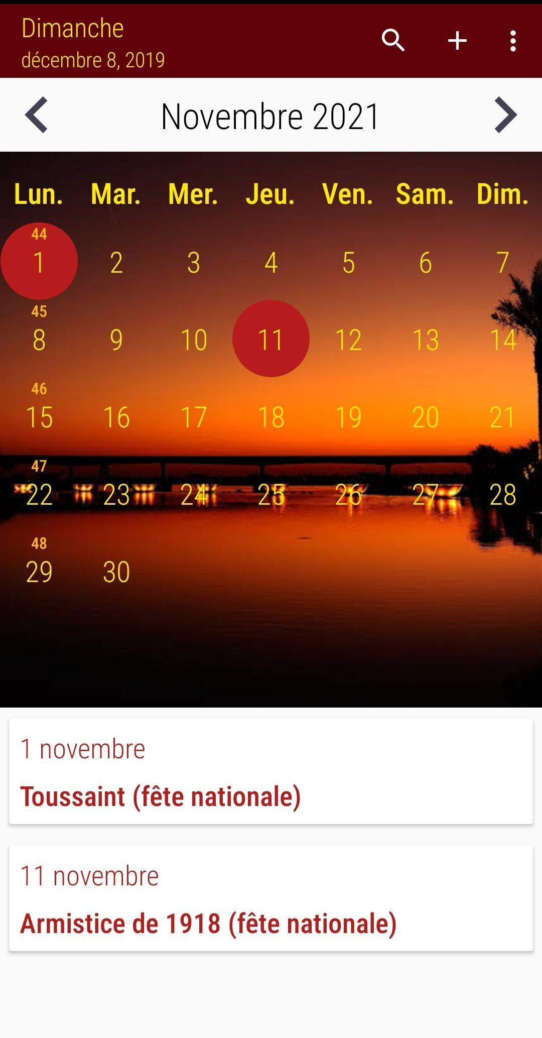 Calendrier 2020 Français screenshot 6