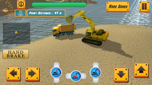 River Sand Excavator Simulator 3D screenshot 1
