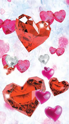 Diamond Hearts Live Wallpaper screenshot 5
