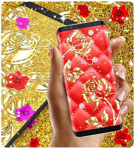 Gold rose live wallpaper screenshot 2