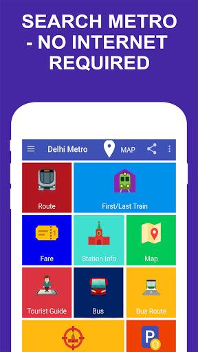 Delhi Metro Route Map and Fare 1 تصوير الشاشة
