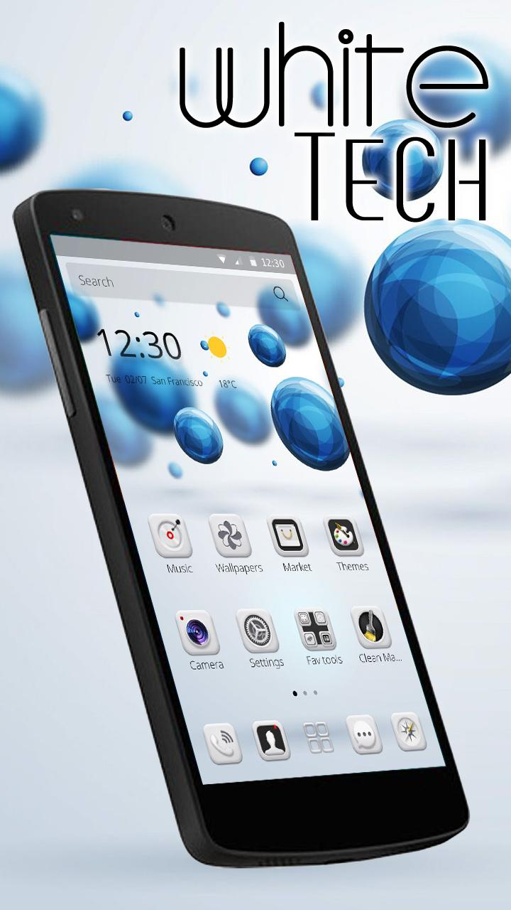 White Tech Theme  Wallpaper screenshot 2