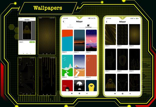 Circuit Launcher 2021 App lock, Hitech Wallpaper 6 تصوير الشاشة