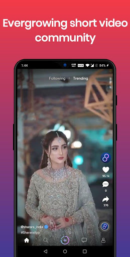 Sharara - women driven short video community स्क्रीनशॉट 1