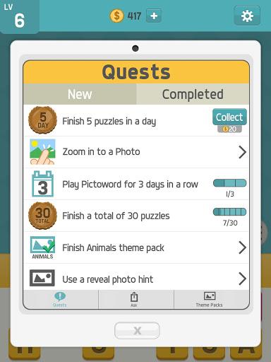 بكتوورد: ألعاب كلمات ممتعة، لعبة كلمات للدماغ 14 تصوير الشاشة