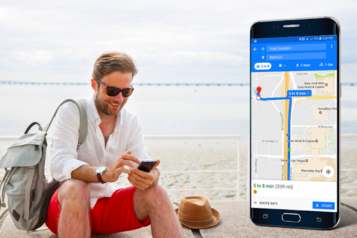 Voice GPS Navigation & Maps Tracker screenshot 1