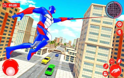 Flying Police Robot Rope Hero: Gangster Crime City screenshot 11