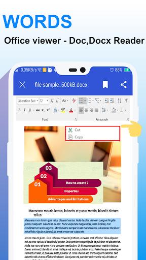Word Office – Docx Reader, PDF, PPT, XLSX Viewer screenshot 2