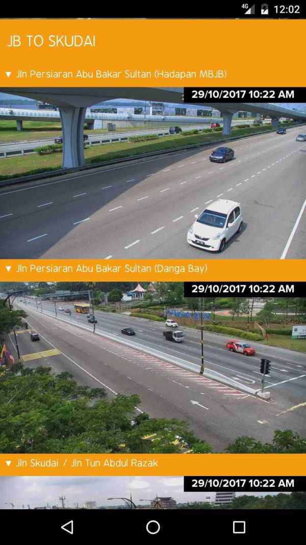 MBJB.LIVE - Live Traffic Cameras in Johor Bahru. screenshot 2