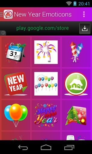New Year Emoticons screenshot 2