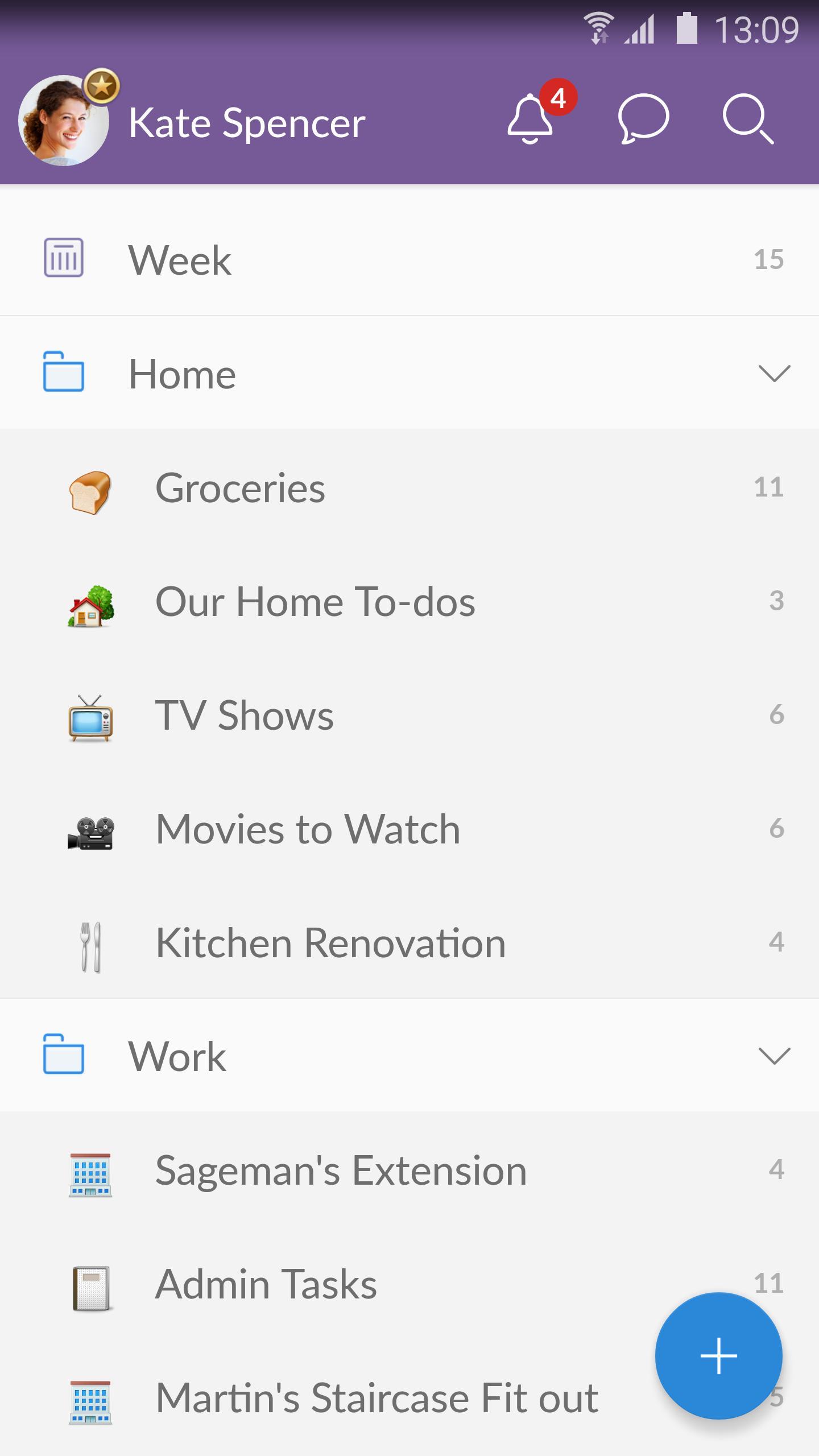 Wunderlist: To-Do List & Tasks 5 تصوير الشاشة