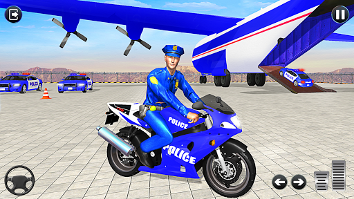 Police Bike Transport Truck screenshot 1