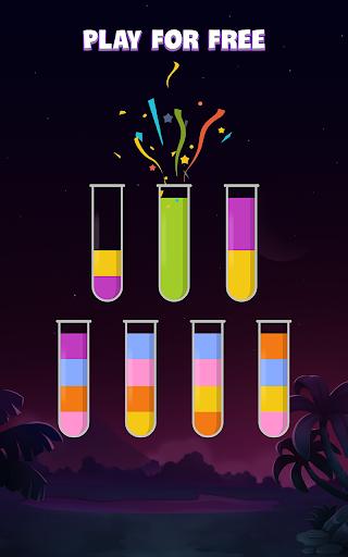 ソートウォーターパズル - 色分けゲーム screenshot 4