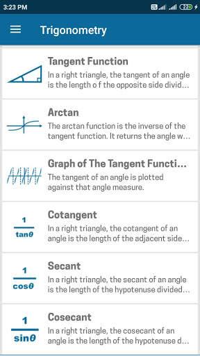 Trigonometry Mathematics screenshot 1