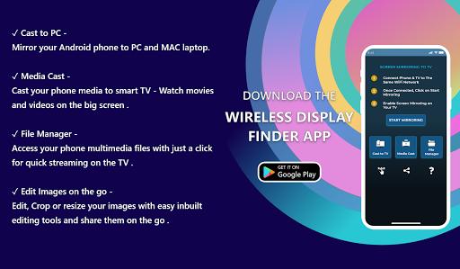 Wireless Display Finder : Cast to TV screenshot 1