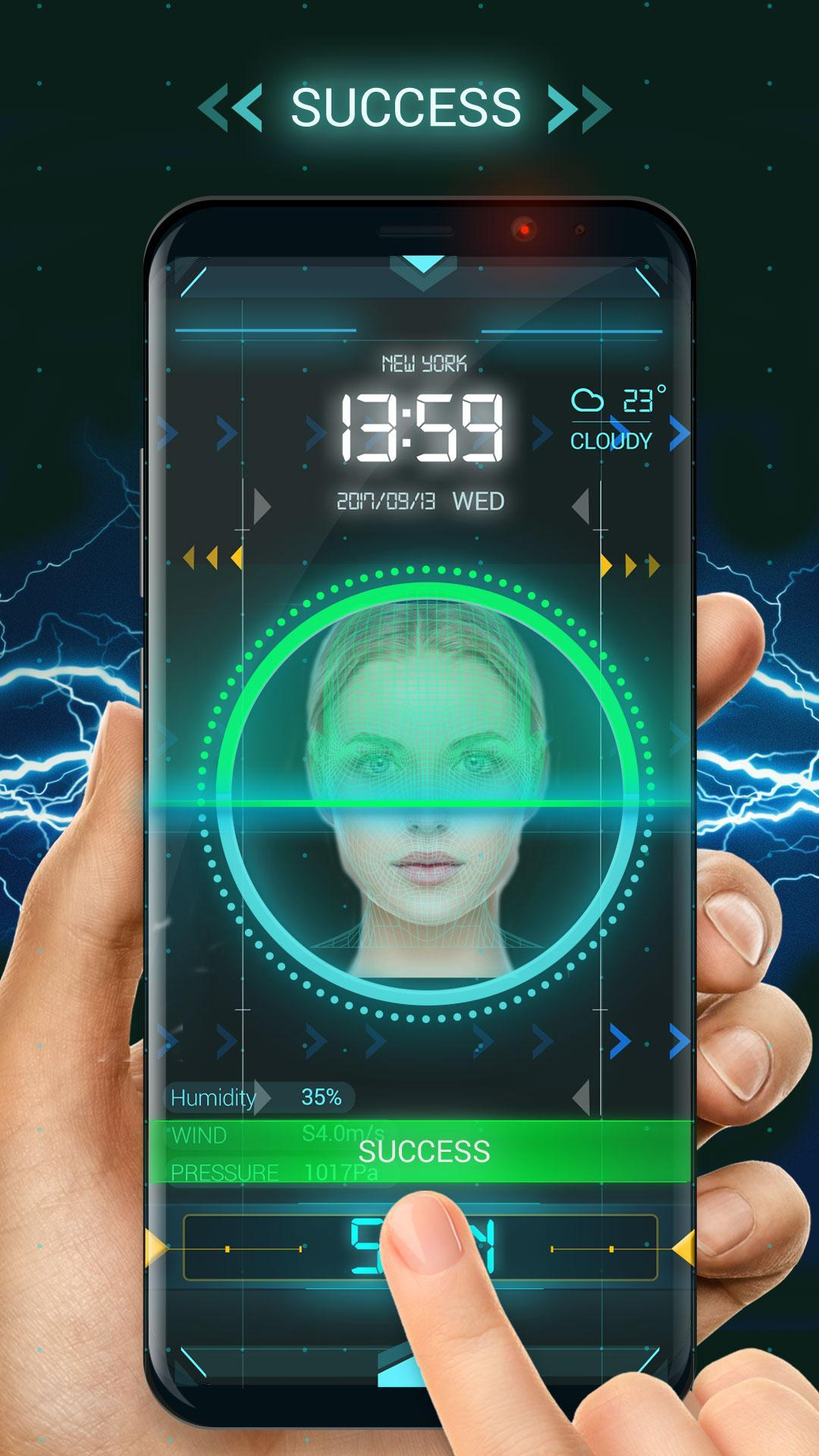Face detection style lock screen for prank screenshot 3