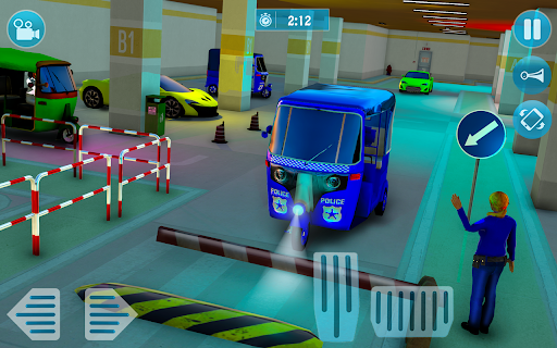 Police Tuk Tuk Auto Rickshaw Driving Game 2021 screenshot 2