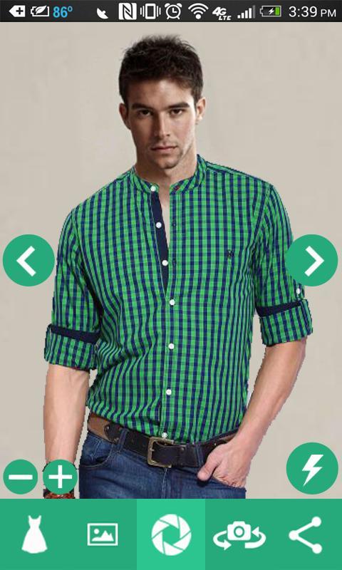 Man Shirt Photo Suit 1 تصوير الشاشة