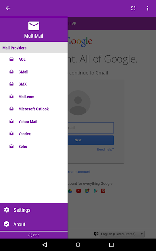 Multi Mail 9 تصوير الشاشة
