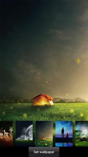 Fireflies lockscreen 5 تصوير الشاشة