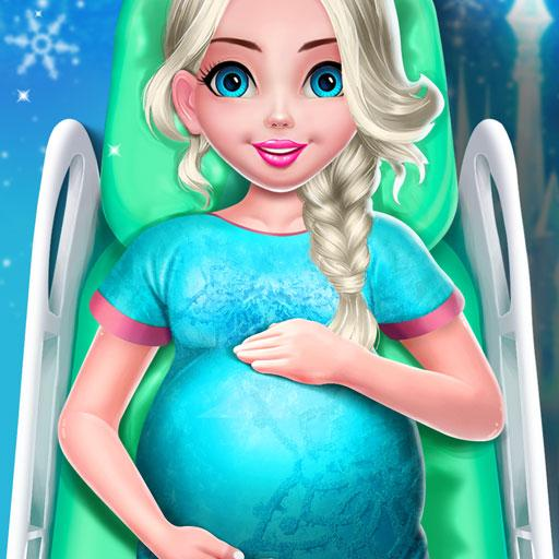 Ice Princess Pregnant Mom and Baby Care Games icon