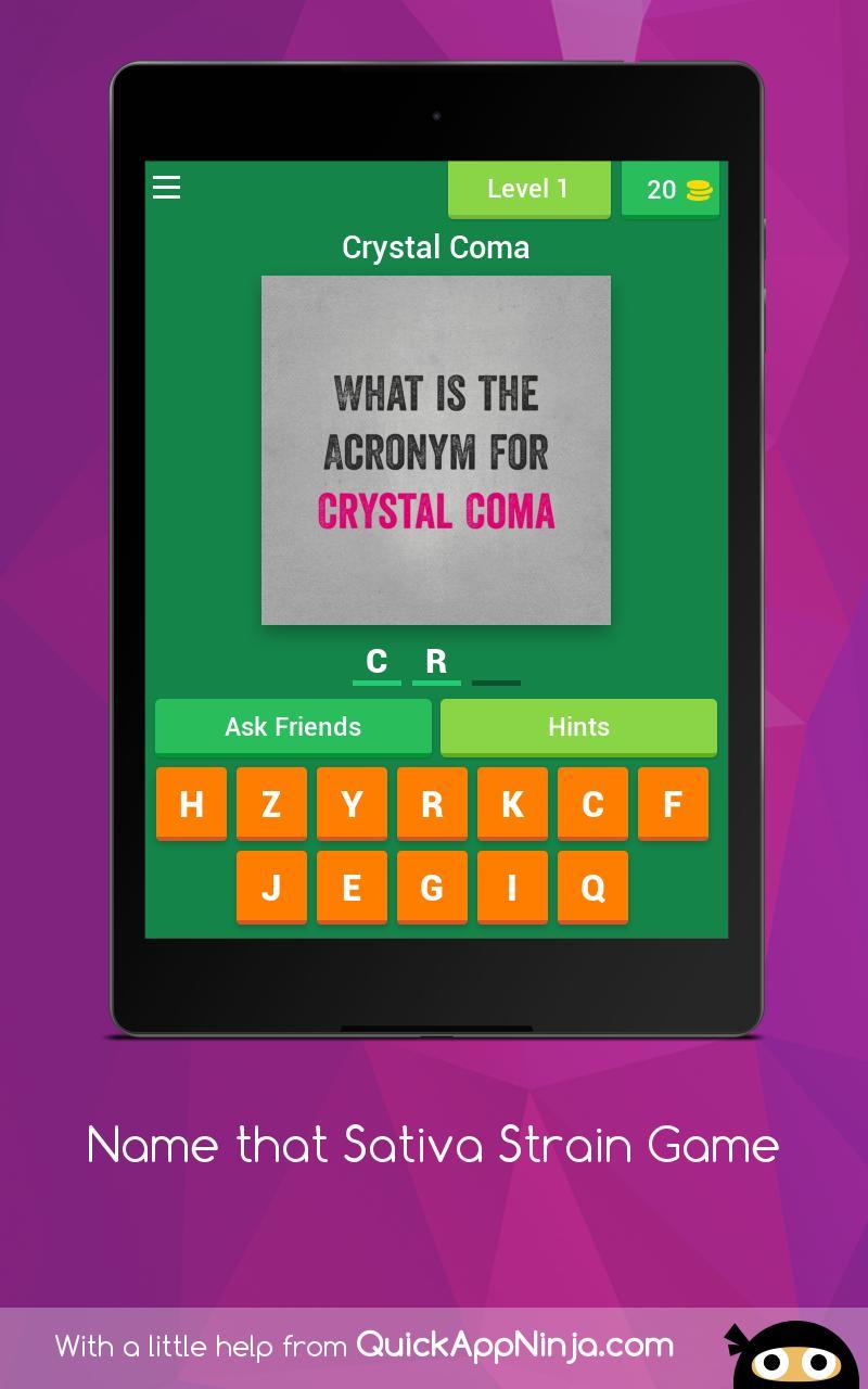 Name that Sativa Strain Game 15 تصوير الشاشة