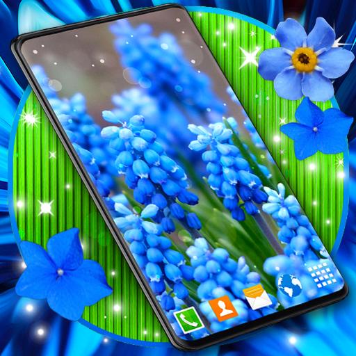 Blue Flowers Live Wallpaper 🌼 Flower 4K Wallpaper иконка