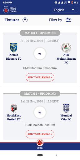 Indian Super League - Official App screenshot 2