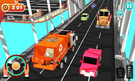 Urban Garbage Truck Driving - Waste Transporter screenshot 3