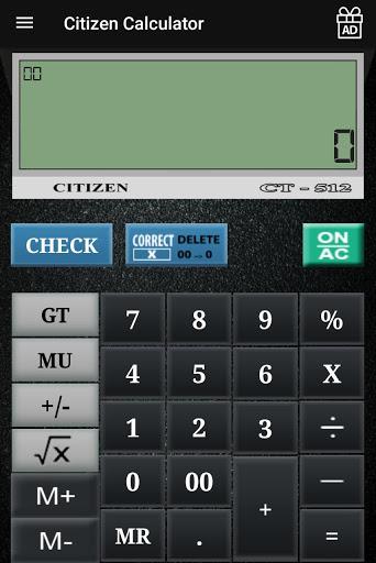 CITIZEN CALCULATOR 9 تصوير الشاشة