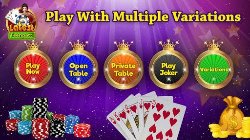 Latest Teen Patti - Free Online Indian Poker Game 3 تصوير الشاشة