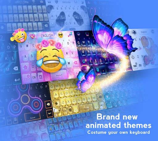 Hi Keyboard - Emoji Sticker, GIF, Animated Theme screenshot 1