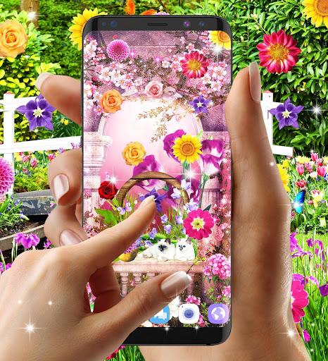 Flower garden live wallpaper 7 تصوير الشاشة