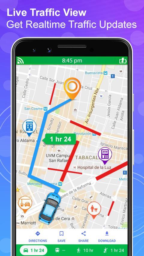 GPS Navigation Live Satellite View Earth Maps screenshot 2