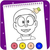 Doraeman Cartoon Coloring: Colour Painting Game on 9Apps
