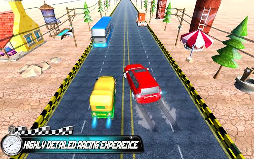 Prado vs Tuk Tuk Auto Rickshaw Racing screenshot 1