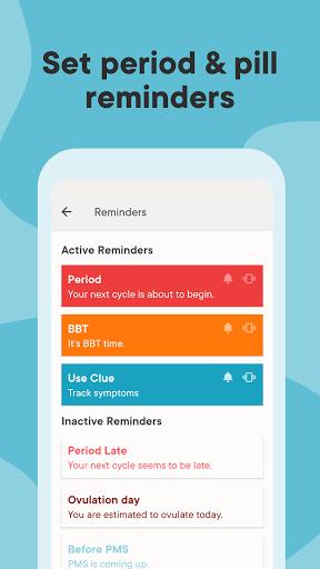 Clue Period Tracker, Cycle & Ovulation Calendar 7 تصوير الشاشة