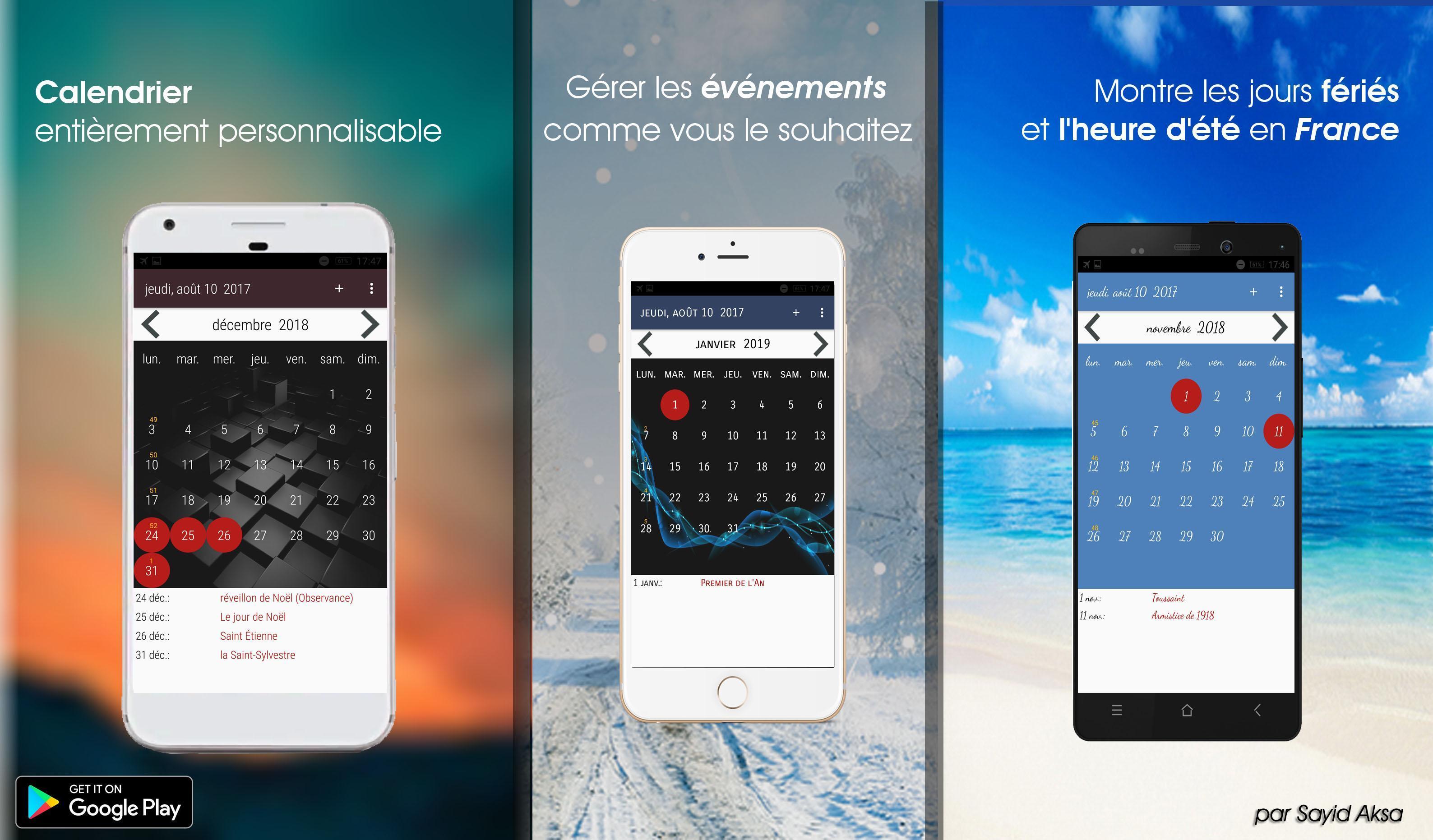Calendrier 2020 Français screenshot 8