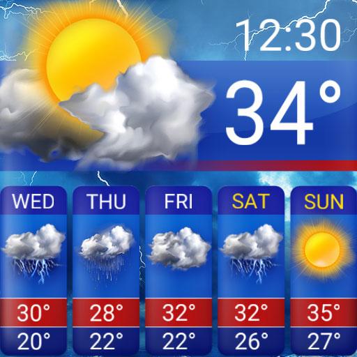 القطعة توقعات الطقس أيقونة