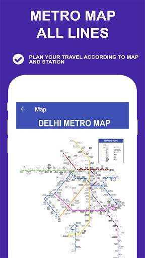 Delhi Metro Route Map and Fare 5 تصوير الشاشة