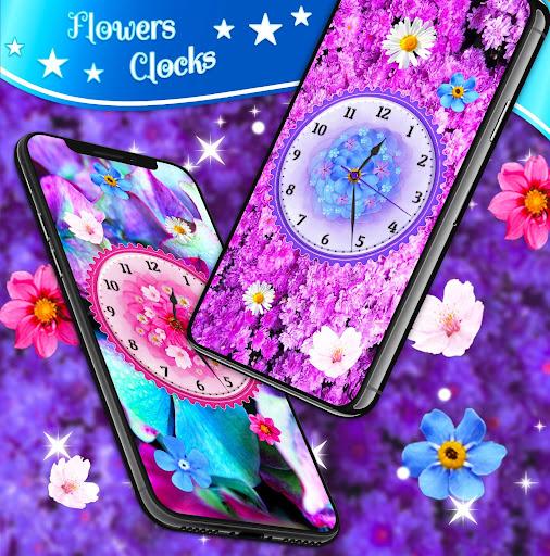 Flower Blossoms Clock 🌺 Spring 4K Live Wallpaper screenshot 2