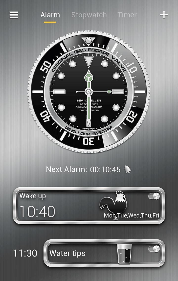 Submariner GO Clock Theme screenshot 1