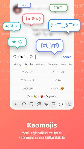 Facemoji Klavye: Gif,Emoji Klavyesi,Temalar,etiket screenshot 6