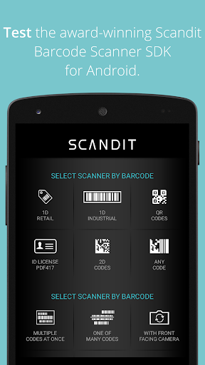 Scandit Barcode Scanner Demo screenshot 1
