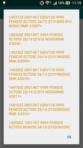 台灣機場天氣(METAR Now) 5 تصوير الشاشة