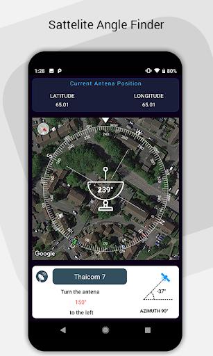 Satellite Finder : Dish Angle Finder screenshot 1